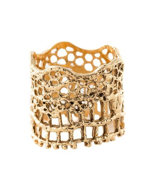 Aurelie Bidermann - Metallic 'vintage Lace' Ring - Lyst