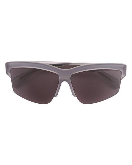 Dion Lee - Gray Grey Mono Sunglasses - Lyst