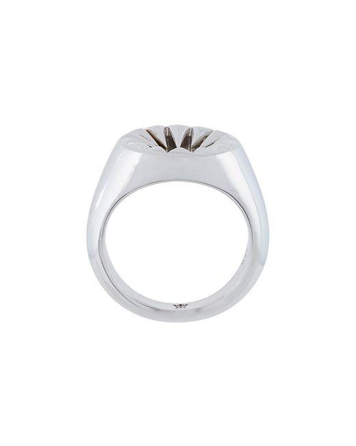 Kasun - Metallic Signet Ring - Lyst