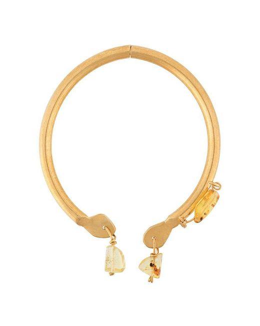 Marni - Metallic Amber Pendant Choker - Lyst