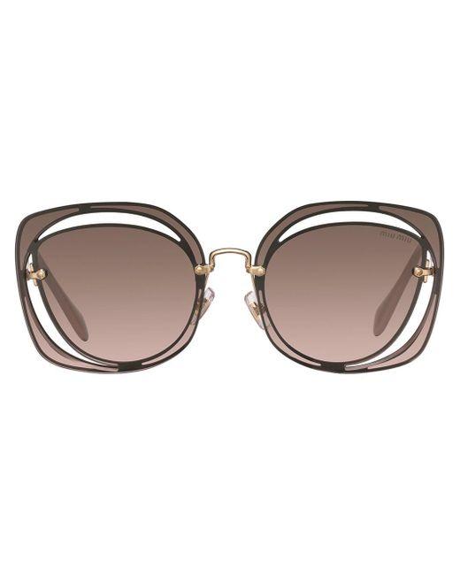 Miu Miu Brown Scenique Sunglasses