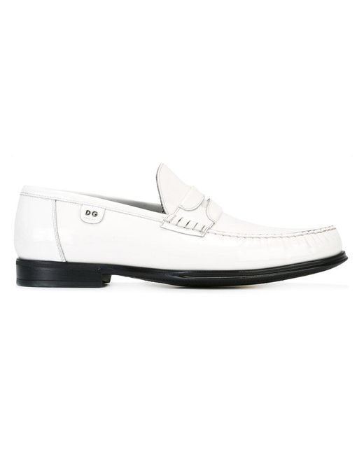 Dolce & Gabbana   White Patent Leather Loafers for Men   Lyst