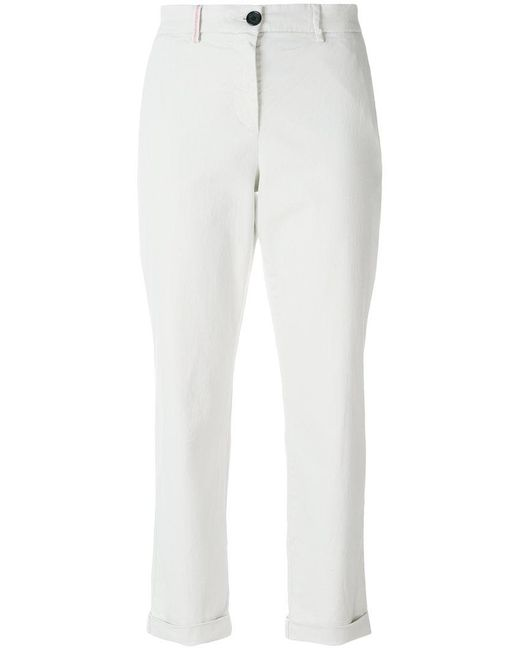 PS by Paul Smith - White Classic Cropped Trousers - Lyst