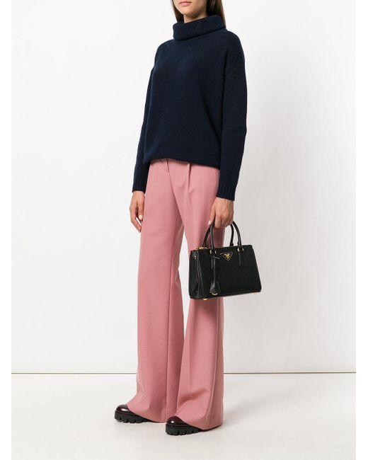 e0cdd4c629 ... Prada - Black - Classic Tote - Women - Calf Leather - One Size - Lyst  ...