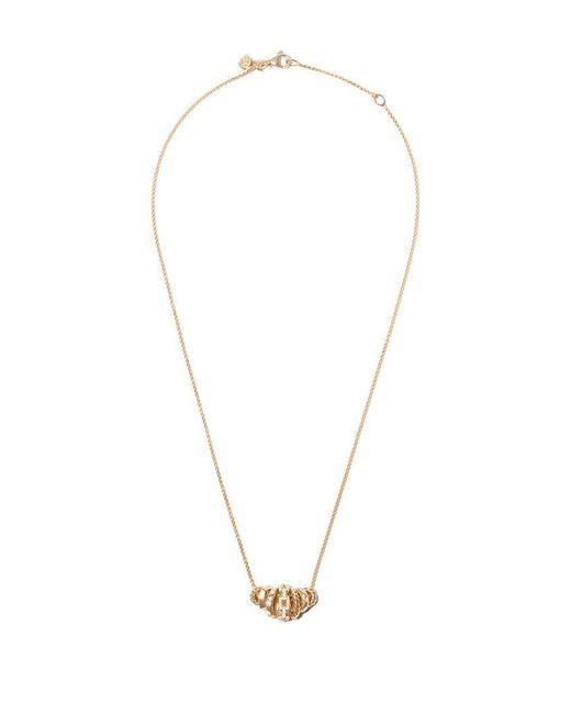 David Yurman - Metallic 18kt Yellow Gold Stax Diamond Rondelle Pendant Necklace - Lyst