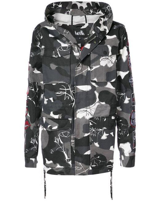 Haculla - Gray Kustom Camouflage Coat for Men - Lyst