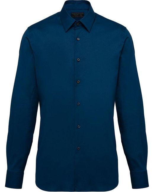 9668b310 Men's Blue Stretch Poplin Shirt