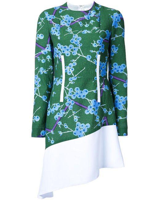 Carven - Green Floral Pattern Dress - Lyst