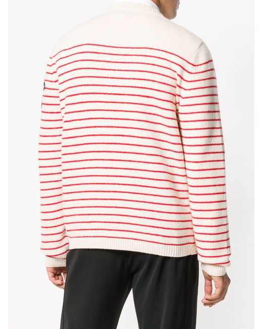70b318f69fc Lyst - Gucci Striped Intarsia Jumper in White for Men - Save 2%