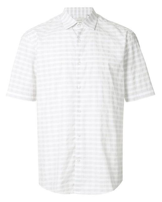 Cerruti 1881 - Gray Short Sleeve Striped Shirt for Men - Lyst