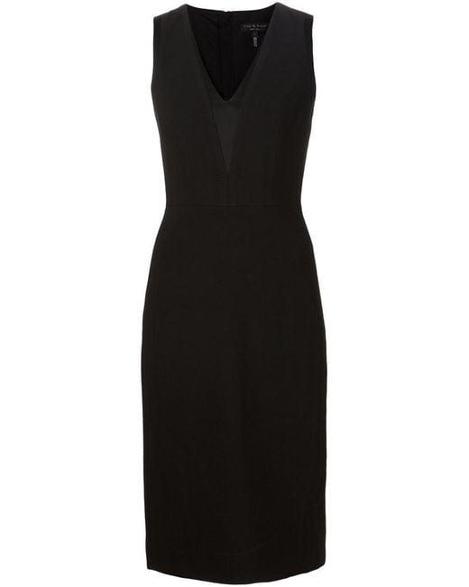 Rag & Bone | Black 'lauren' Dress | Lyst