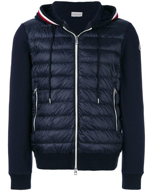 ac192c301b25 Lyst - Moncler Padded Body Hoodie in Blue for Men - Save 33%