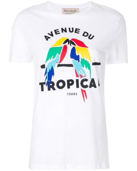 Être Cécile - White Avenue Du Tropical T-shirt - Lyst