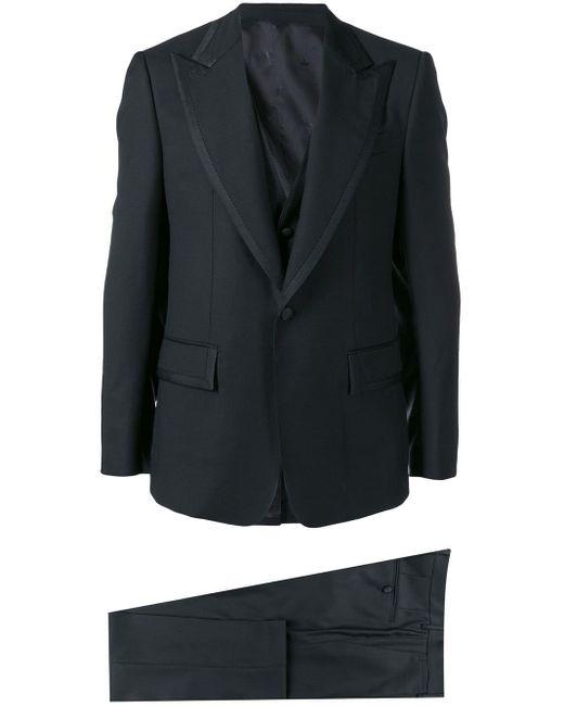 Dolce & Gabbana Black Classic Three-piece Tuxedo for men