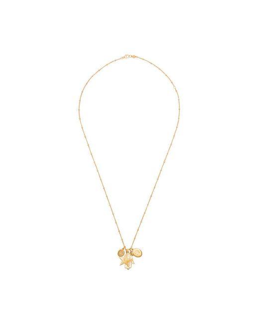 Marte Frisnes - Gold Metallic Hannah Sterling Silver Charm Necklace - Lyst
