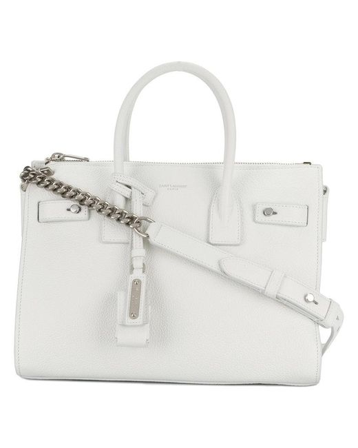 Saint Laurent - White Baby Sac De Jour Souple Duffle Bag - Lyst