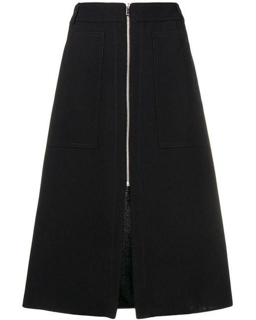 Barbara Bui - Black Zipped A-line Skirt - Lyst