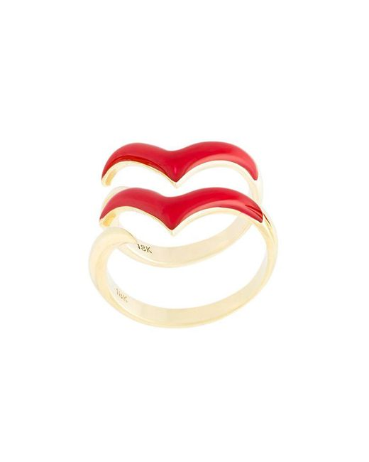 Eshvi - Red 'fly With Me' Ring - Lyst