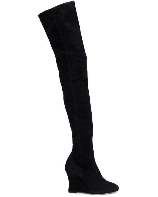 Alchimia Di Ballin - Black Thigh-high Wedge Boots - Lyst