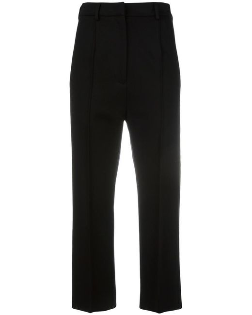 MM6 by Maison Martin Margiela   Black Cropped Trousers   Lyst