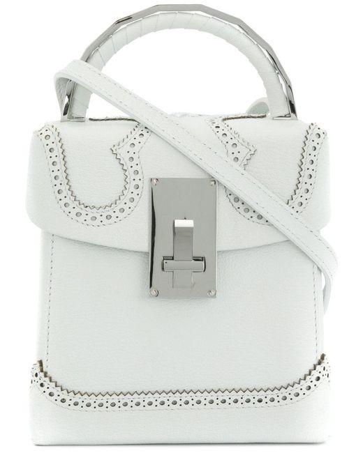 The Volon - White Brogue Detail Handbag - Lyst