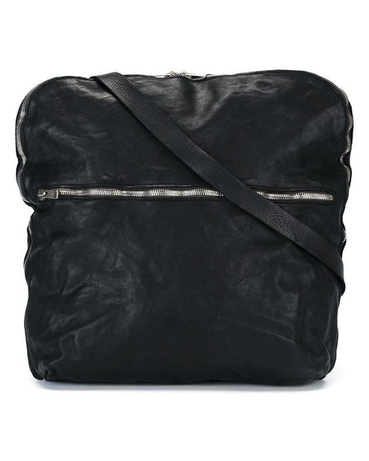 4c8af91deb Guidi - Black Top Zip Messenger Bag for Men - Lyst ...