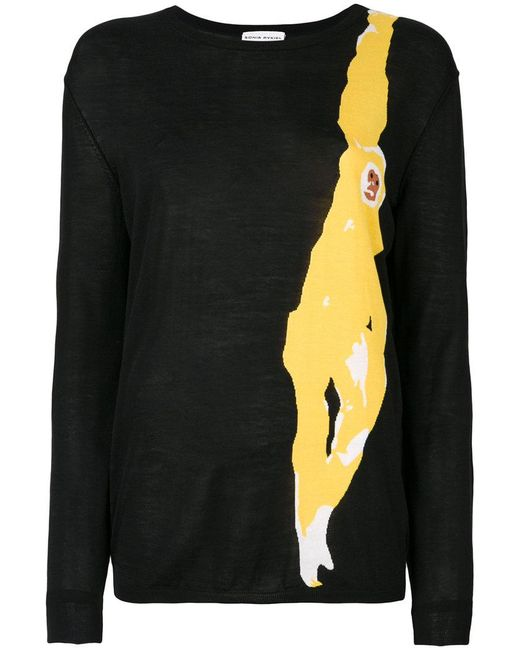 Sonia Rykiel | Black Monkey Print Top | Lyst