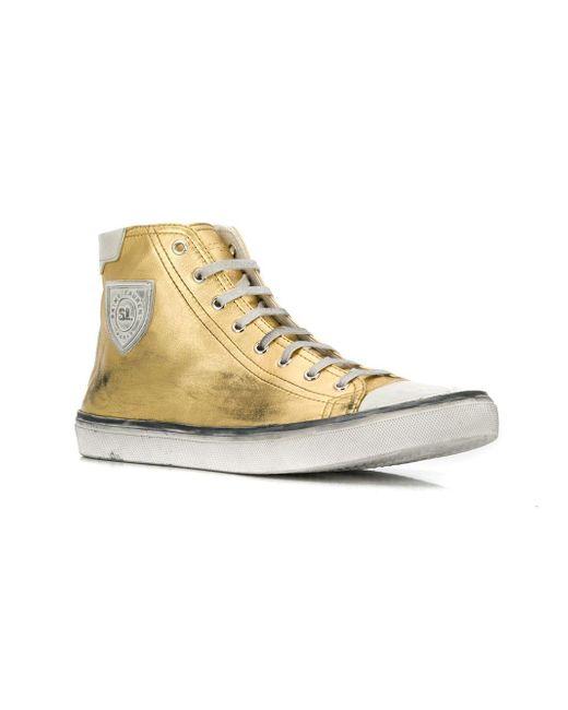 9713d444b20 ... Saint Laurent - Metallic Bedford Sneakers for Men - Lyst ...