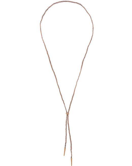 Carolina Bucci - Metallic Sparkly Lucky Lariat Necklace - Lyst