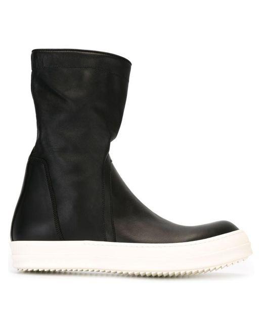 Rick Owens - Black Basket Creeper Calfskin Boots for Men - Lyst