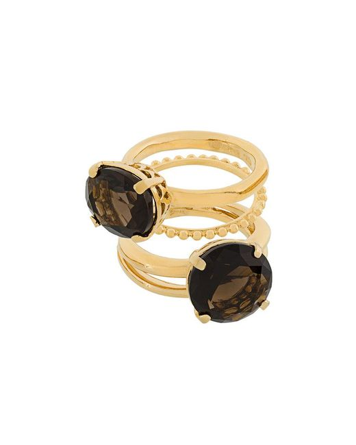 Wouters & Hendrix - Metallic 'my Favourite' Ring Stacking Set - Lyst