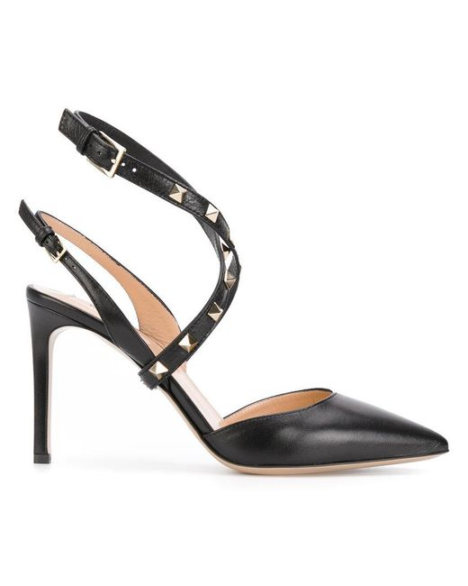 Valentino - Black Leather Pumps - Lyst