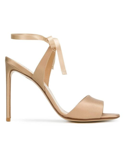 Francesco Russo - Natural Wrapped Ankle Sandals - Lyst