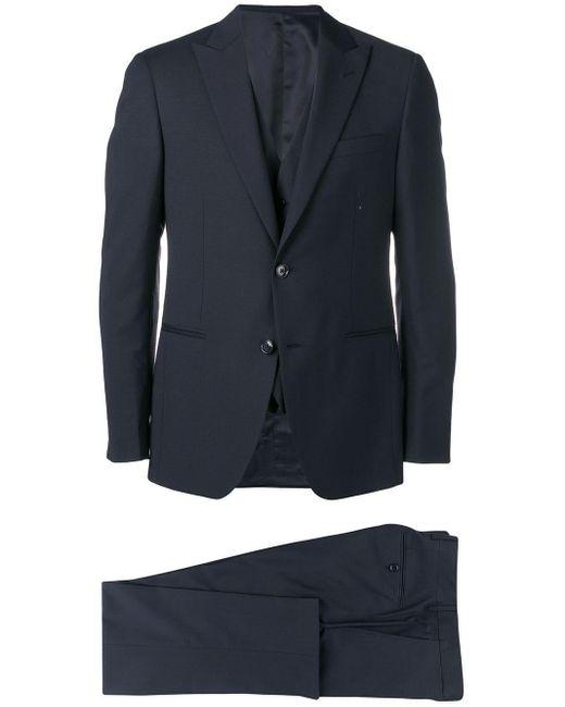 Dell'Oglio Blue Three-piece Suit for men