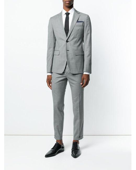 pretty nice 996cd f5952 Lyst - DSquared² Karierter 'Manchester' Anzug in Grau für Herren