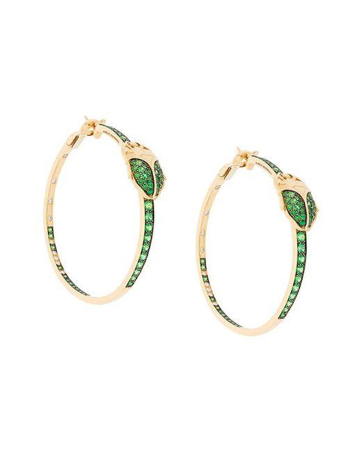 Aurelie Bidermann - Metallic Scarab Couture Tsavorite And Diamond Earrings - Lyst