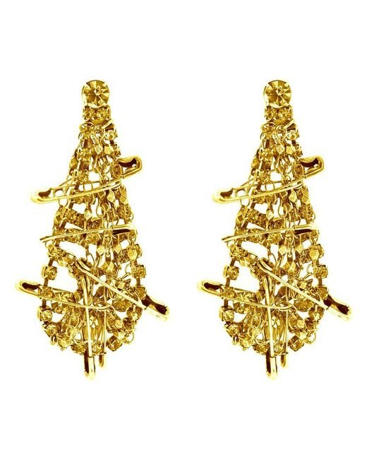 Tom Binns | Metallic 'punk Chic' Safety Pin Earrings | Lyst