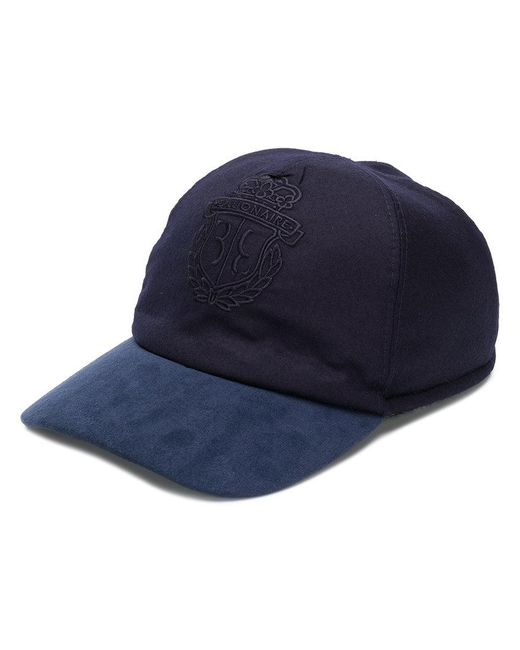 Billionaire - Blue Embroidered Logo Baseball Cap for Men - Lyst