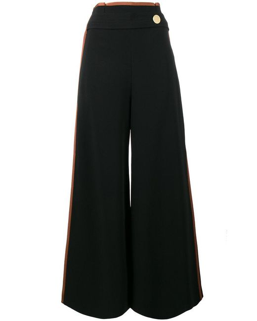 Peter Pilotto | Black High Waisted Culottes With Side Band | Lyst