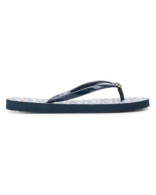 Tory Burch - Blue Thin Flip-flops - Lyst