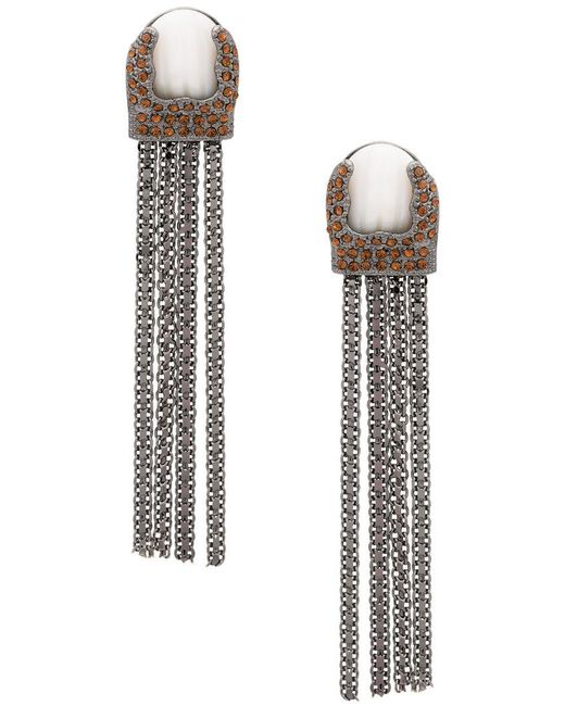 Camila Klein Longo Pinguim earrings - Metallic qHZyQfOXj