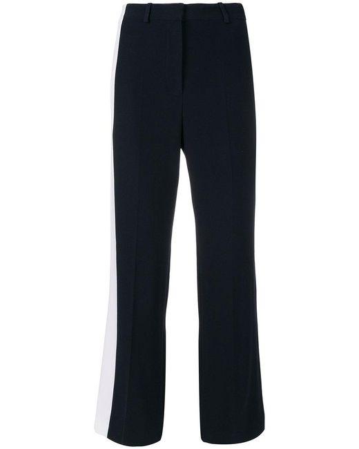 Stella McCartney - Blue Side Stripe Tailored Trousers - Lyst