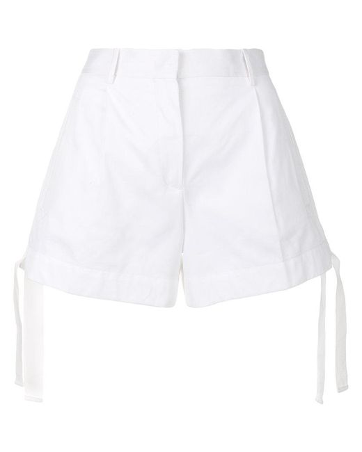 Moncler - White Drawstring Fitted Shorts - Lyst