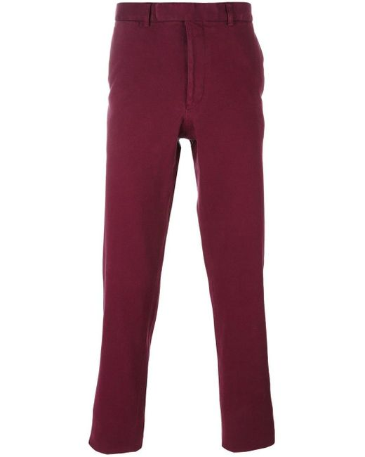 Fashion Clinic Timeless Red Slim Fit Chinos for men