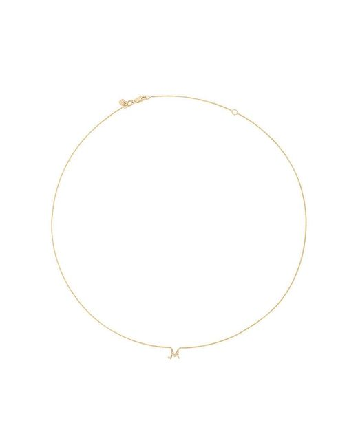 Sydney Evan - Metallic Collana Con Diamanti 'm' - Lyst