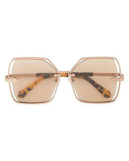 52db973879 Karen Walker - Brown Nirvana Oversized Frame Sunglasses - Lyst ...