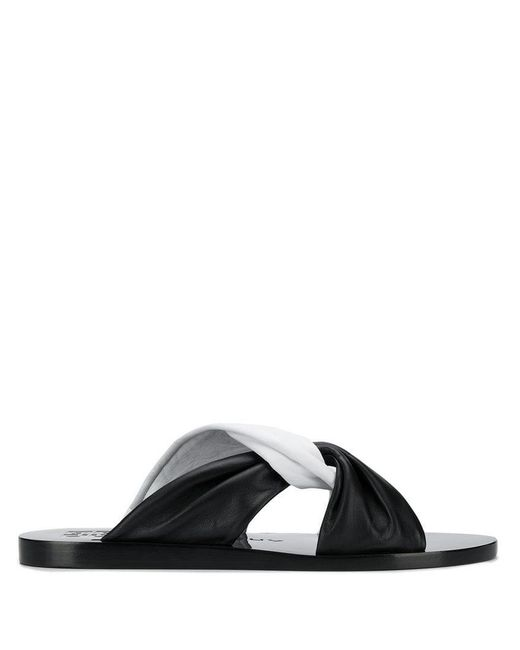 735284b7c Givenchy - Black Two-tone Knot Sandals - Lyst ...