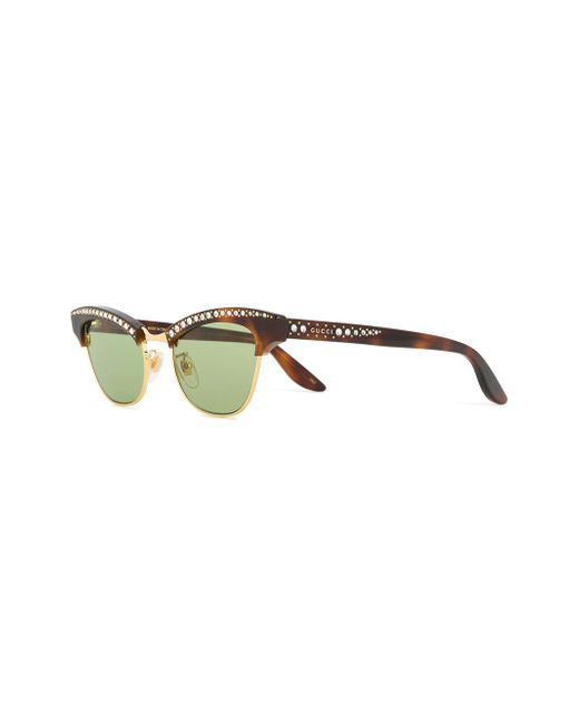 174e83335dd ... Gucci - Brown Optyl And Metal Sunglasses - Lyst ...