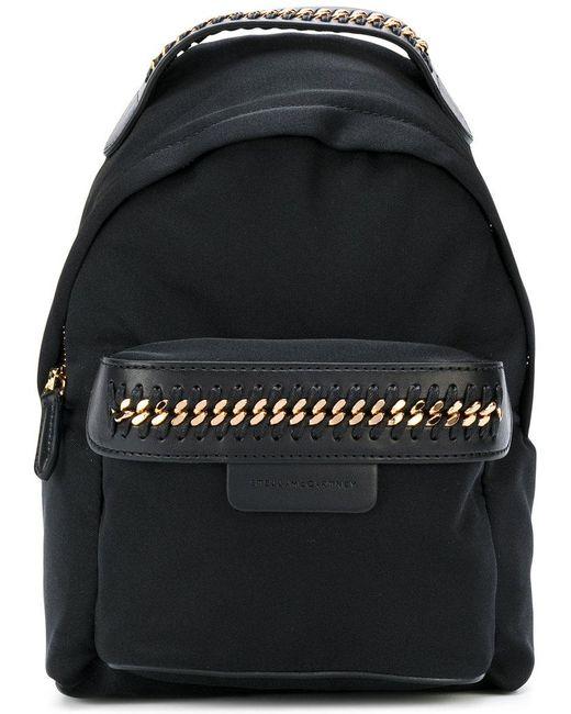Stella McCartney   Black Mini Falabella Go Backpack   Lyst