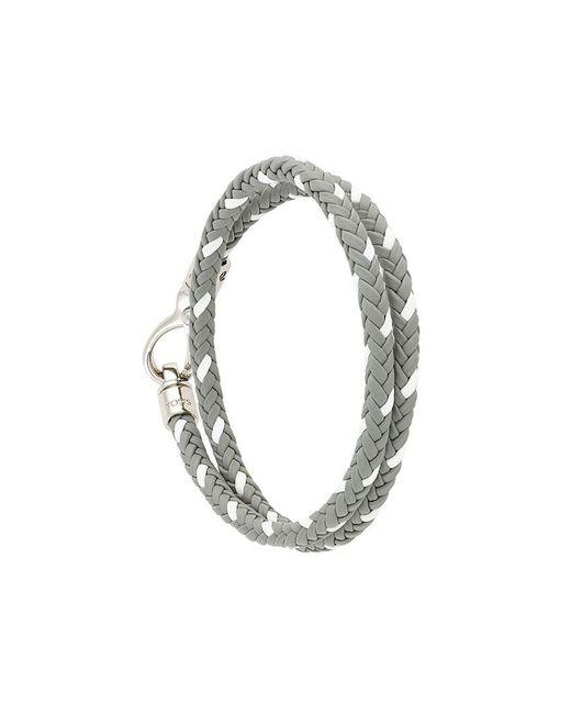 Tod's   Gray Braided Bracelet for Men   Lyst